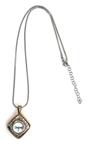 (Dragonfly Snap Charm Gold Tone Pendant 18