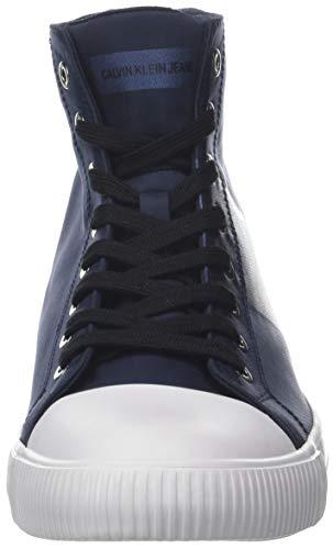A Blue navy Klein Blu Calvin 000 Sneaker Alto Collo Uomo metal Antani Nylon metal Film yYgHcgFqaf