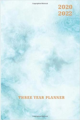 3 Year Planner 2020-2022 Blue Marble Three Years Monthly ...