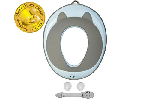 HEYOK Baby Potty Training Seat for Kids | Portable | Non Slip with Urine Guard | Round or Oval Toilets | Moms Choice Award Winner