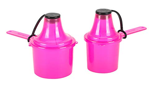 Scoopie 2 Pack | Portable Scoop and Funnel Travel Container | Pre and Post Workout Supplement Pack | On The Go Powder Dispenser For Water Bottles and Shaker Bottles (60cc ()