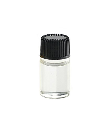 (erioctry 12PCS 1ml/2ml/3ml Mini Transparent Glass Cosmetic Essential Oil Perfume Bottle Vial Jar with Orifice Reducer Small Makeup Sample Bottle Container (2ml, Black Lid) )