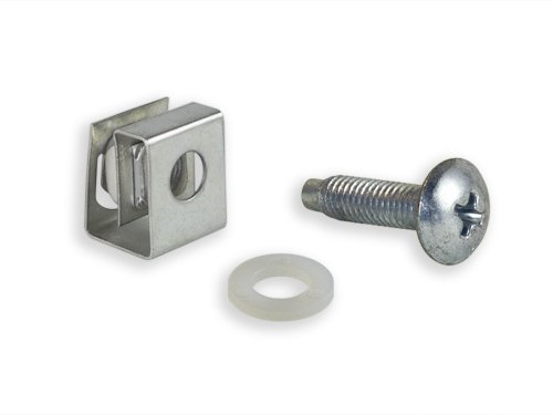 RackGold 10-32 Zinc Cage Nut & Screws w/ Washers 50-Pack - USA Made
