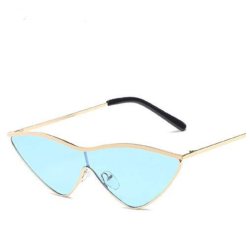 Ligero Gafas Sol Gafas Sol Cat de Lente Unisex Fliegend Hombre Polarizadas Retro Súper Eye Mujer de para UV400 Vintage Gafas Espejo Azul 0RSgCS