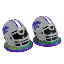 NCAA Kansas State Helmet Salt and Pepper Shakers