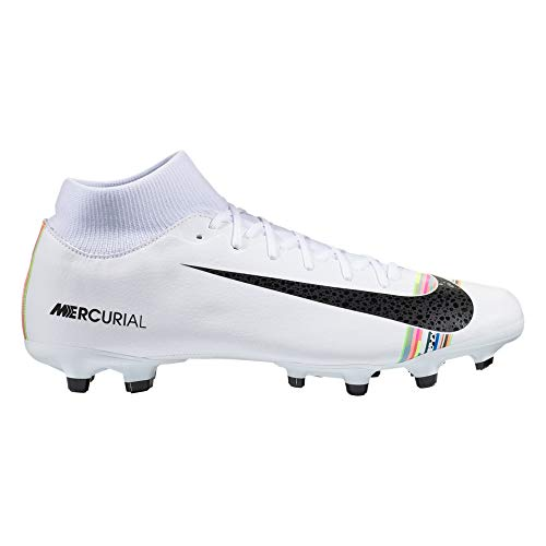 Nike Men's Mercurial Superfly 6 CR7 Soccer Cleat White/Black/Pure Platinum Size 8 M US