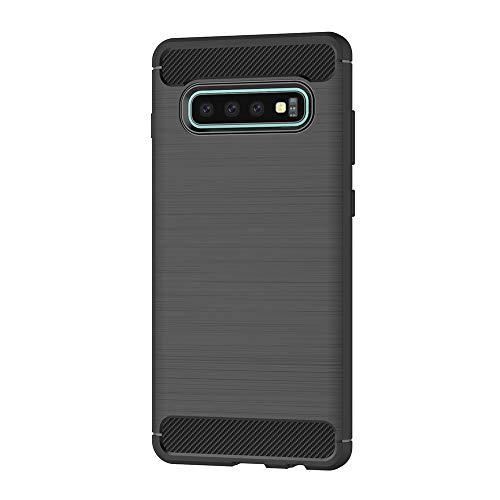 AICEK Funda Samsung Galaxy S10+, Negro Silicona Fundas para Samsung S10 Plus Carcasa Galaxy S10+ Fibra de Carbono Funda Case: Amazon.es: Electrónica