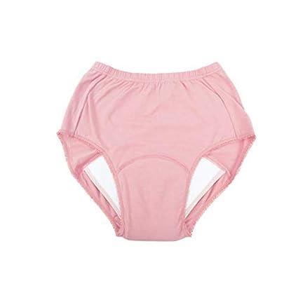 GLJY Couche Lavable Adulte en Tissu Couche-Culotte r/éutilisable de Bain Couche Anti-Fuite /à Trois Couches Peut /être lav/ée /à Plusieurs reprises,Pink,M