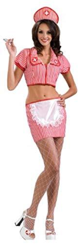(Secret Wishes  Costume Candy Striper Adult Costume, Multi,)