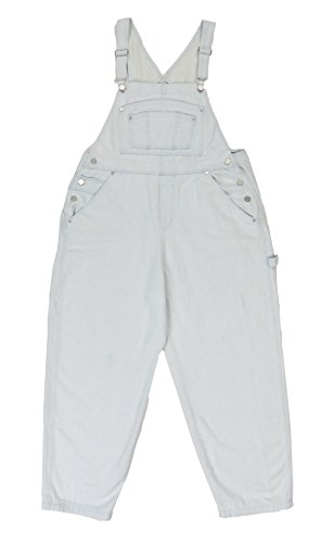 BoundOveralls Plus Size Women's Denim Bib Overalls Bleached Wash Size 16 ()