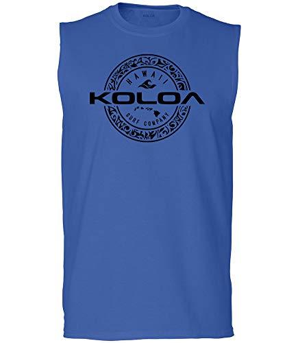 Koloa Surf Mens Hawaiian Tribal Ring Ultra Cotton Sleeveless T-Shirt-2XL-Royal/b
