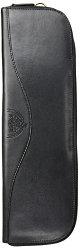 Dopp Men's Leather Tie Case, black, One Size