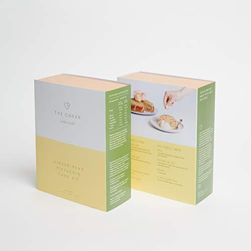 Ginger Pear Pistachio Cake Kit - Made With Spelt, Optionally Vegan