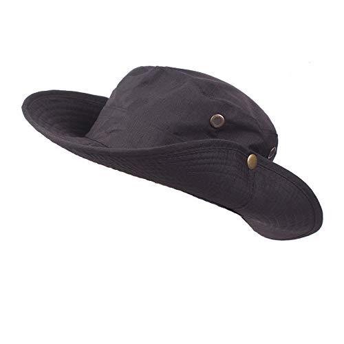 Kelly Bro Unisex Fishing Hat,Lightweight Foldable Retro Wide Brim Bucket Hat Outdoor Visor Cap Black ()