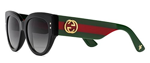 Sunglasses Gucci 3864/S 0U1C Black Green Red / 9O dark gray gradient - S Fashion Men Sunglasses
