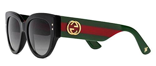 Sunglasses Gucci 3864/S 0U1C Black Green Red / 9O dark gray gradient - Green Gucci Red