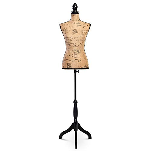- Female Mannequin Torso Dress Form Display W/Black Tripod Stand Designer with Ebook