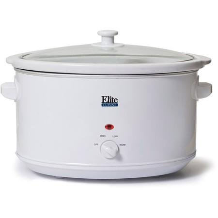 Elite Cuisine 8.5-Quart Slow Cooker, White By Table Top King