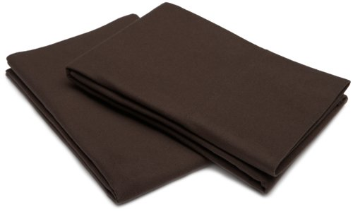 Pinzon Signature Cotton Heavyweight Velvet Flannel Pillow Cases - King, Italian Roast