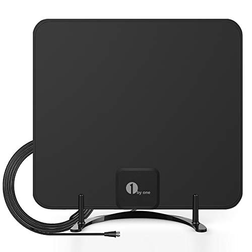 1byone Freeview TV Aerial with Stand - HDTV Antenna with Excellent Performance for...