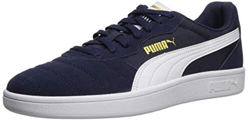 PUMA Men's Astro Kick Sneaker Peacoat-White-teamgold 13 M US from PUMA