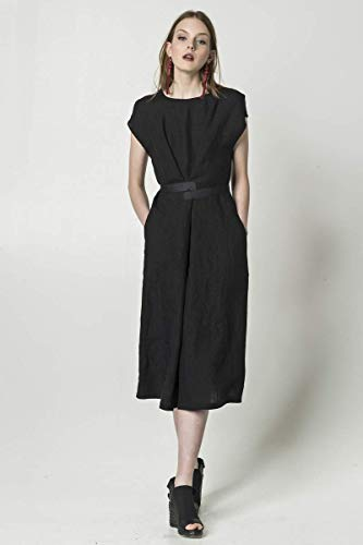 Amazon.com  Black linen dress with pockets