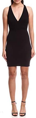 Vestido curto com decote profundo transpassado, Colcci, Feminino
