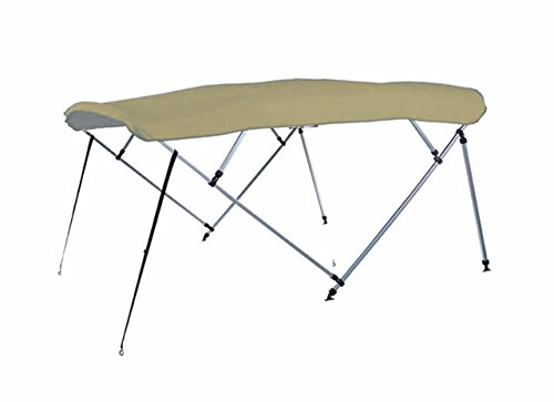7oz-KHAKI-4-BOW-SQUARE-TUBE-BOAT-BIMINI-TOP-with-running-light-cutout-SUNSHADE-TOP-FOR-SAFARI-SPORTFISHER-16-ALL-YEARS