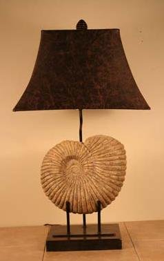 "New!! Gorgeous Nautilus Shell Table Lamp, 30""h"