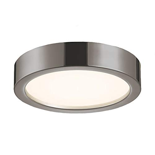 (Sonneman 3724-13 3724.13 Contemporary Modern Surface Mount from Puck Slim Led Collection in Pwt, Nckl, B/S, Slvr. Finish, 12
