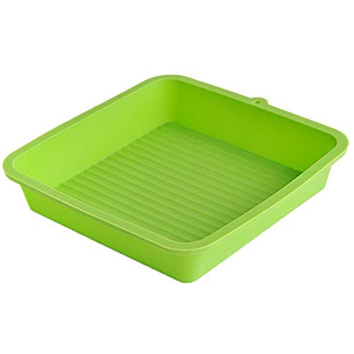 1 piece 20cm Square Cake Pizza Pan Tray Mould Silicone Bakeware Cake Mold Toast Bread Pastry Mold Baking Tool