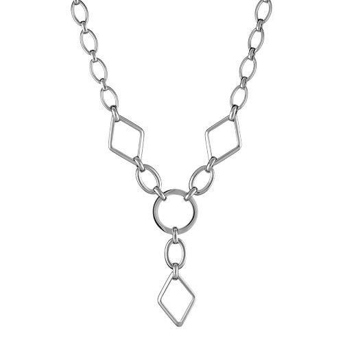 Bijoux Laperledargent – Collier Acier 316 L Forme Y Forme Géométrique