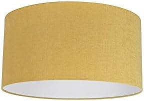 QAZQA Moderno Algodón y poliéster Pantalla amarilla 50/50/25, Redonda/ Cilíndrica Pantalla lámpara colgante,Pantalla lámpara de pie: Amazon.es: Iluminación