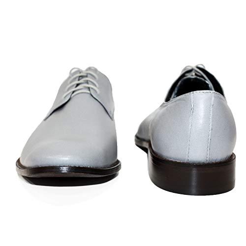Handmade Modello Vacchetta Grigio Focusso Allacciare Scarpe Pelle Pelle Sera Uomo in da Italiano da Morbido SS05xnPwrq