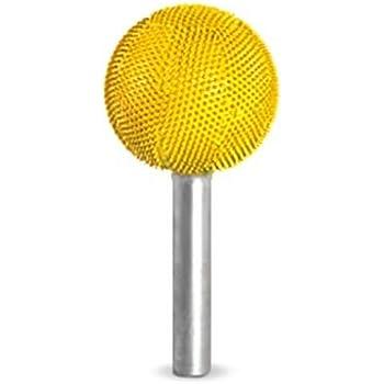 "Fine Grit Saburr Tooth 14S12 Yellow 1//4/"" Shank Sphere 1//2/"""