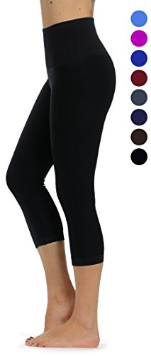 Prolific Health High Compression Women Pants Yoga Fitness Leggings (Small/Medium, Black ()