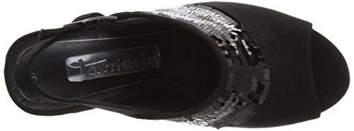 Schwarz Black Sandalen 098 Tamaris Slingback Comb 28001 Schwarz Damen wq6OFUX