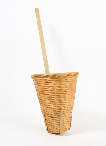 Cone Shaped Hanging Natural Colored Wicker Wall Basket- 12 Baskets (Cone Shaped Hanging Baskets)