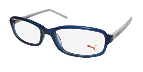 Puma 15424 Mens/Womens Designer Full-rim Flexible Hinges Eyeglasses/Spectacles (52-16-130, Blue / - Eyeglass Hinges