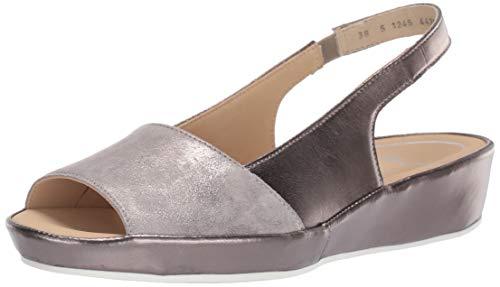 ARA Women's Clarice Slide Sandal, Sassy Glamour Kid/Titan Metallic, 38 M EU (7.5 US)