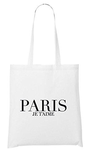 Paris Je T´aime Bag White