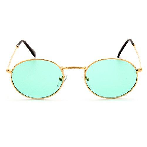 soleil soleil femmes métal ovale lentille rétro de hommes lunettes jaune Juleya UV400 clair lunettes cadre de C6 Small pX7CnqI