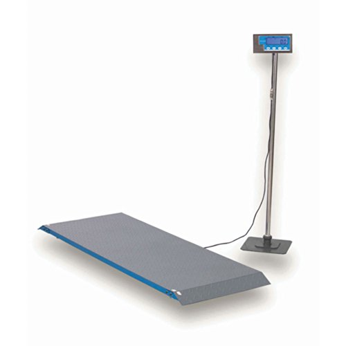 - Brecknell PS1000 Floor Scale, 1000 Capacity, LCD Screen, Portable, Versatile, Rugged Steel with Tread Plate Surface, Steel