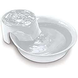 Pioneer Pet Big Max Ceramic Drinking Fountain for Pets, White (Renewed)