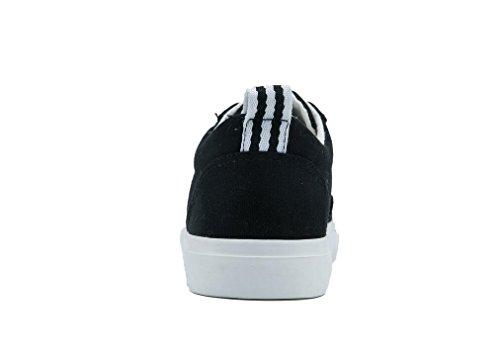 Black Lona Nvxie Estudiantes De Compras Negro Zapatos Ocio Cómodo Movimiento Escuela Diarias Señora Blanco HnOp4nfT
