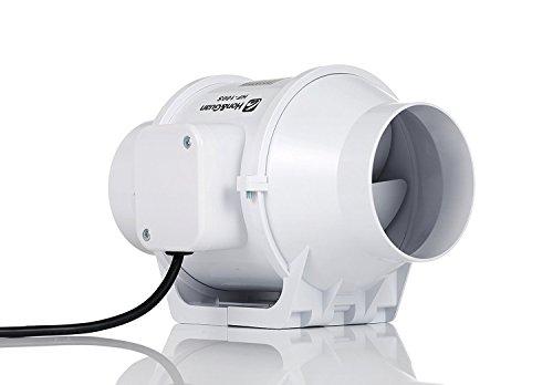 Hon & Guan 4 Inch Inline Duct Fan Booster Fan Plastic Waterp