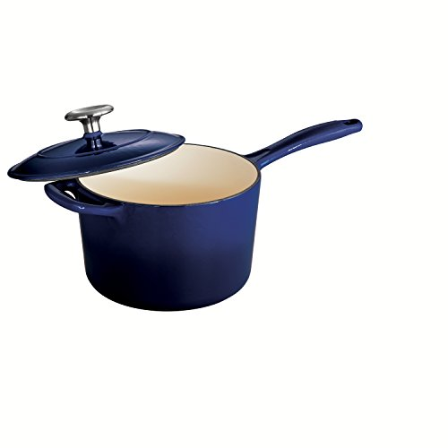 Tramontina Enameled Cast Iron Covered Sauce Pan, 2.5-Quart, Gradated - Quart Pot Covered 2.5