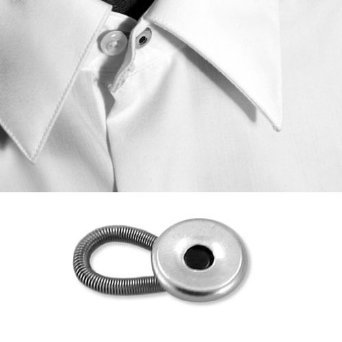 Jeans and Slacks Set of 3 Silver to Give You a More Relaxed Feel in Your Shirt Home-X Button Extenders