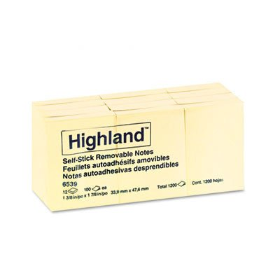 Self-Stick Pads, 12 Pads/Pack [Set of (Highland Notepad)