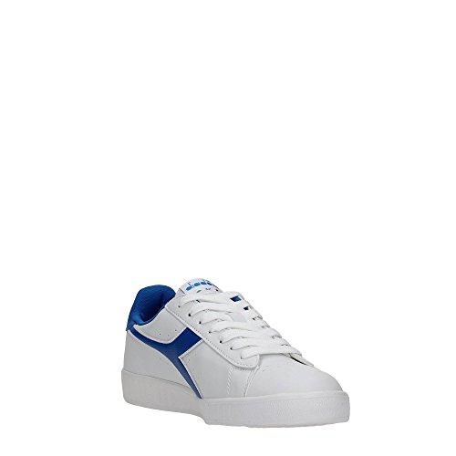 Diadora Game P, Zapatilla de Deporte Baja del Cuello Unisex Adulto, Blanco, 38 EU White/Micro Blue